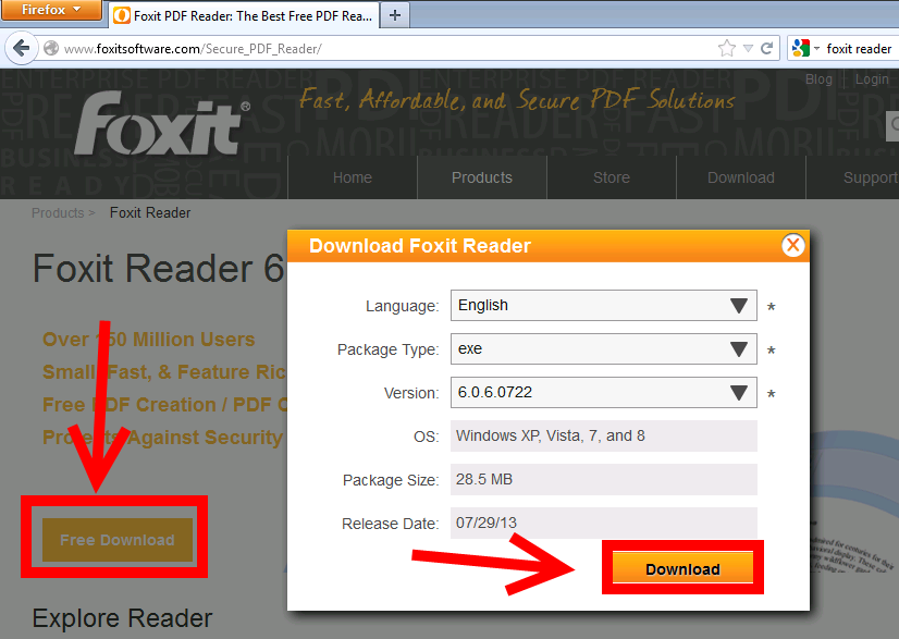 Replace Adobe Reader with Foxit Reader